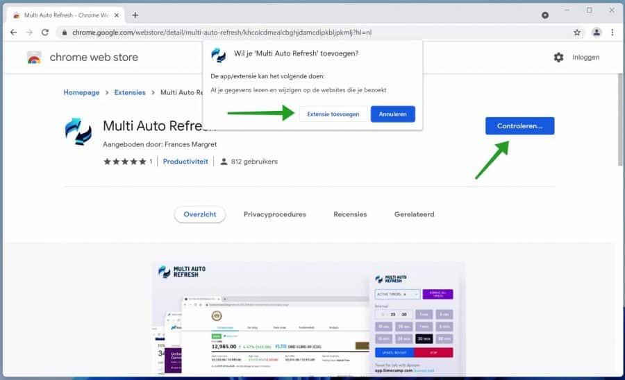 Multi Auto Refresh timer installeren