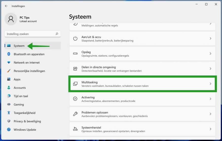 Multitasking in Windows 11