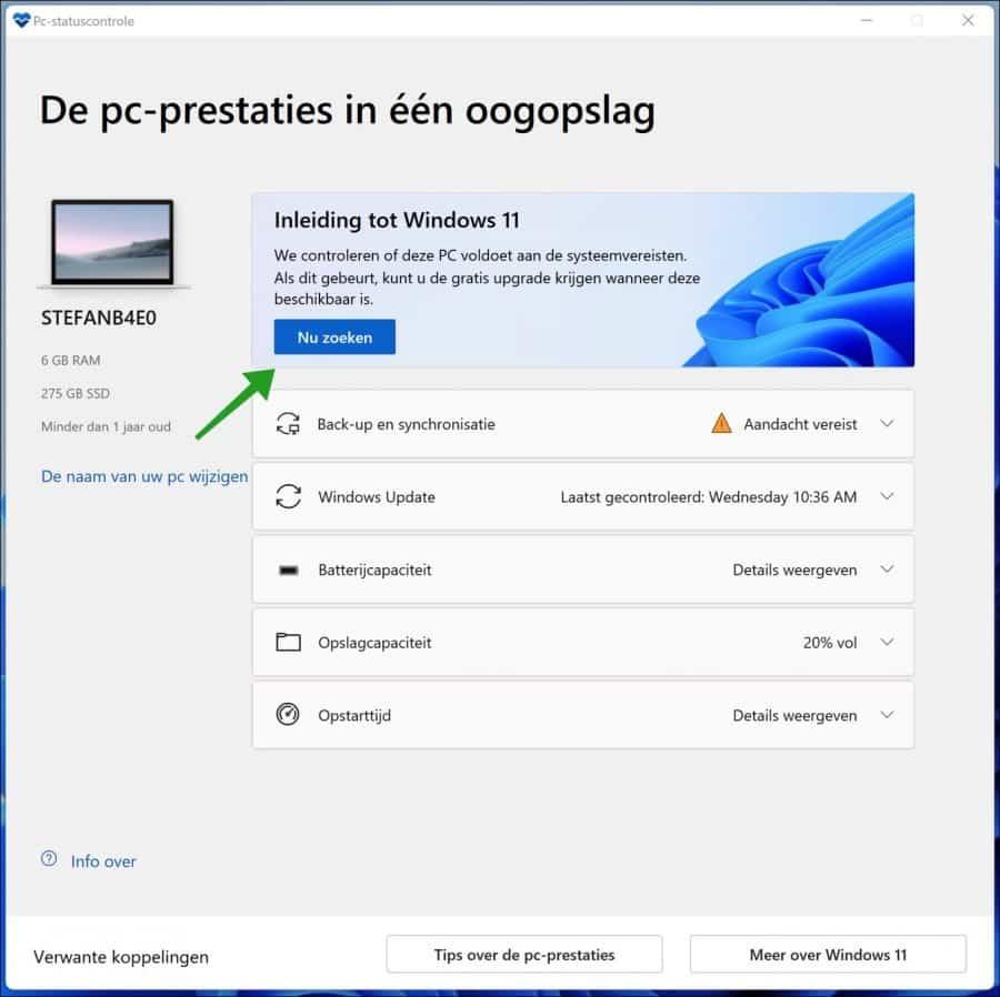 PC Health Check app