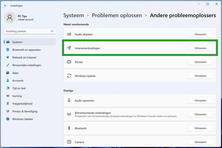 Problemen met een internetverbinding oplossen in Windows 11