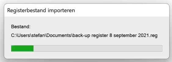 Registerbestand importeren
