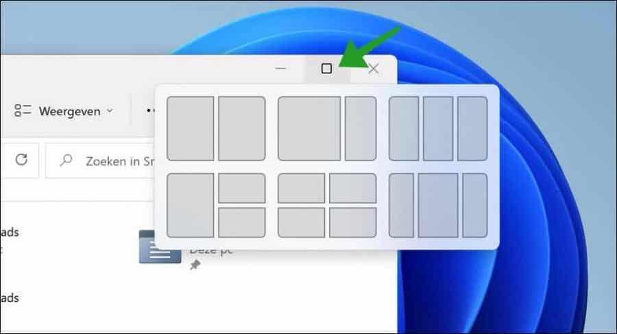 Vensters uitlijnen in Windows 11