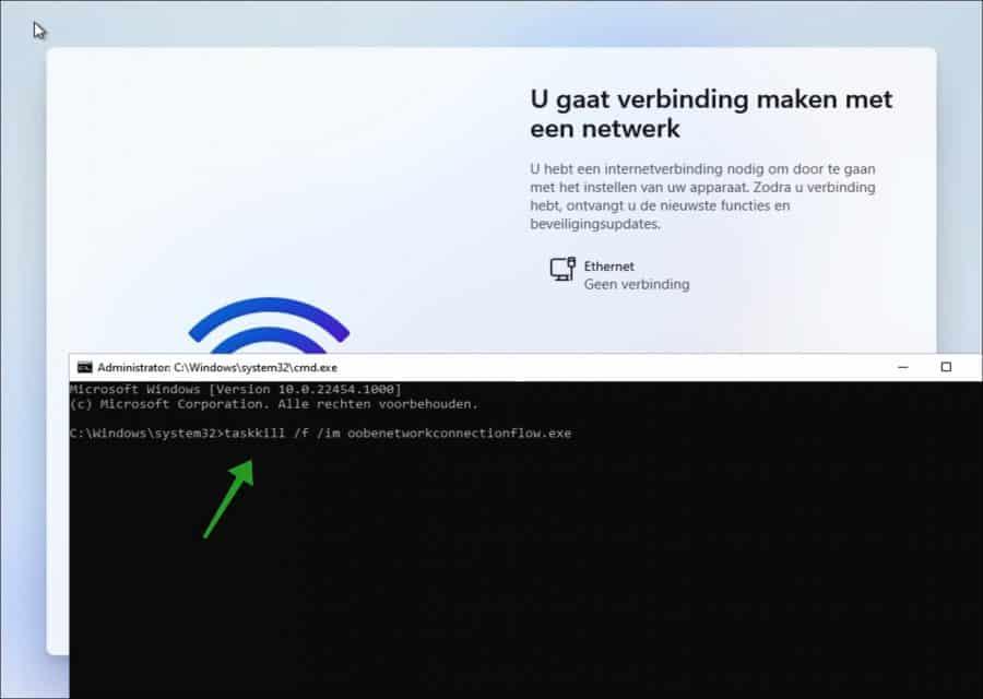 Windows 11 installeren zonder Microsoft-account