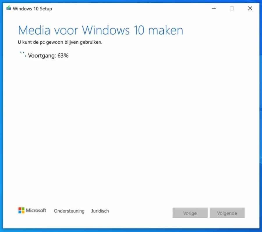 windows 10 installeren vanaf usb