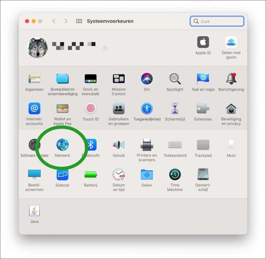 Netwerk instellingen mac