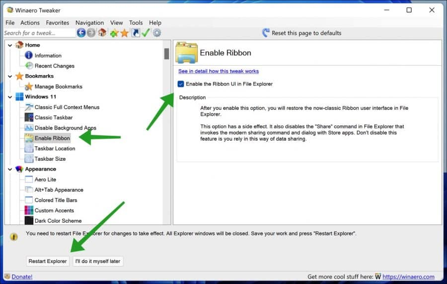 Oude windows verkenner terugzetten in Windows 11