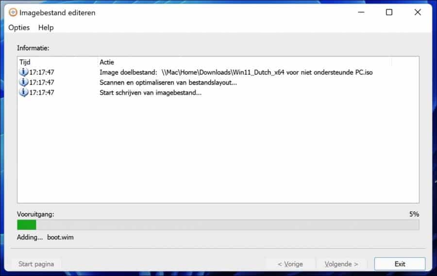 Windows 11 image bestand maken