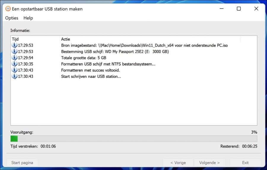 Windows 11 installatie usb maken voor niet ondersteunde PC