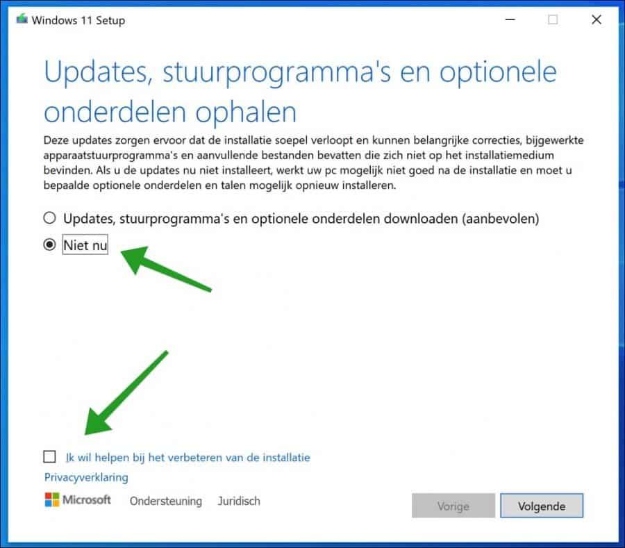 update downloaden voor windows 11 installatie